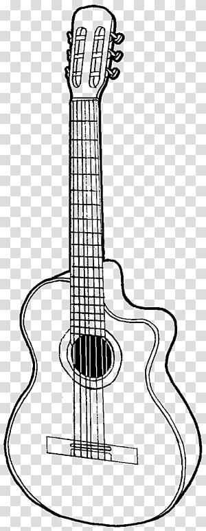 ilustrasi gitar, Gibson Les Paul Menggambar Sketsa gitar akustik, gitar png