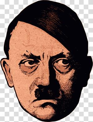 ilustrasi wajah manusia, Adolf Hitler Mass bunuh diri di Nazi Jerman Partai Nazi 1945, Adolf Hitler png