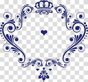 Logo Pernikahan, logo cinta pola Mahkota, mahkota biru dan hati png