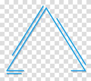 Abstrak segitiga geometris, ilustrasi segitiga biru PNG clipart