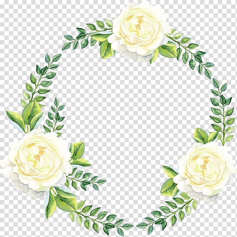 tiga bunga putih, Bunga Kertas, cincin bunga yang dilukis dengan Tangan png