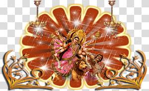 Poster dewa Hindu, Vaishno Devi Durga Puja, Dewi Durga Maa s png