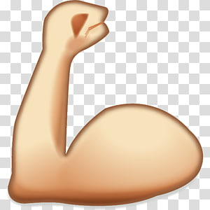 ilustrasi melenturkan lengan kiri, Ikon Lengan Stiker Emoji Muscle, Kartun otot PNG clipart