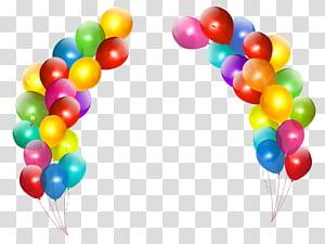 Ulang Tahun Balon, Dekorasi Balon Penuh Warna, pengaturan balon berbagai macam warna png