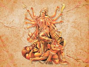 Ilustrasi Durga, Durga Puja Devi Mahatmya Parvati Navaratri, Dewi png