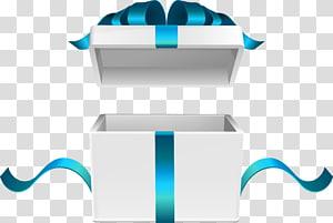 Kotak hadiah putih, ilustrasi kotak hadiah terbuka png