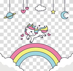 Adobe Illustrator, Senang menjalankan unicorn, unicorn putih png