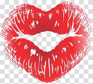 bibir merah, tradisi Kissing Emoticon, Sweet Kiss png