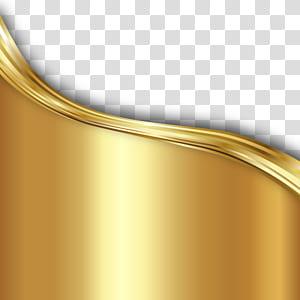 Emas, Tekstur latar belakang emas bahan garis bergelombang png