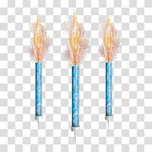 tiga ilustrasi kembang api biru, Lilin kue ulang tahun, Lilin Ulang Tahun png