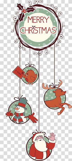 Merry Christmas dekorasi rumah merah dan hijau, Rudolph pohon Natal dekorasi Natal, dekorasi Natal png
