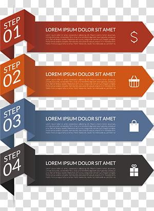 Lorem IPSUM Dolor SIT Amet ilustrasi, Diagram Infografis, panah menggulung png