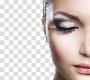 Wanita bulu mata dan lipstik merah muda, ekstensi bulu mata maskara kosmetik salon kecantikan, bulu mata wanita close-up PNG clipart