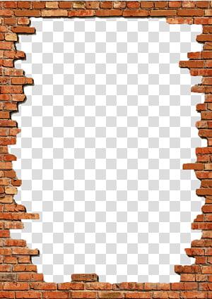 Dinding Bingkai Bata, Bingkai Batu Bata, ilustrasi bingkai bata PNG clipart