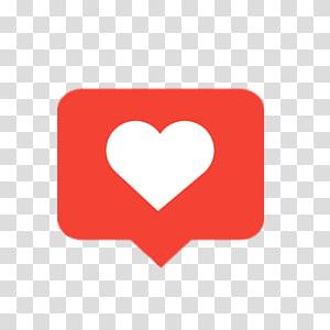 Ikon Komputer Jantung Seperti tombol Instagram, Instagram hati png