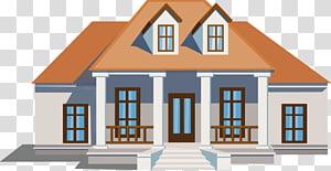 ilustrasi rumah putih dan oranye, Danziger School Villa Home Architecture, rumah yang dirancang dengan indah png