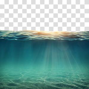 Underwater Ocean, Air di bawah matahari, badan air png