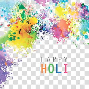 India Holi Ilustrasi, pola percikan cat air, lukisan abstrak beraneka warna PNG clipart