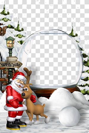 Ilustrasi Santa Claus, Santa Claus Malam Natal Tahun Baru, template templat latar belakang perbatasan Natal png