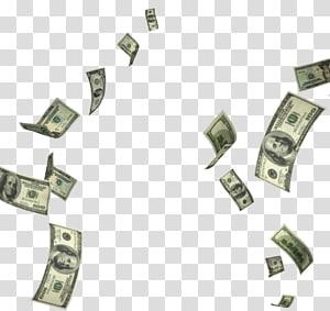 Uang Dolar Amerika Serikat, Uang jatuh, 100 lot dolar AS png