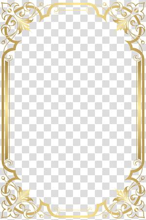 Film grafis kertas, Border Frame, ilustrasi bingkai emas PNG clipart