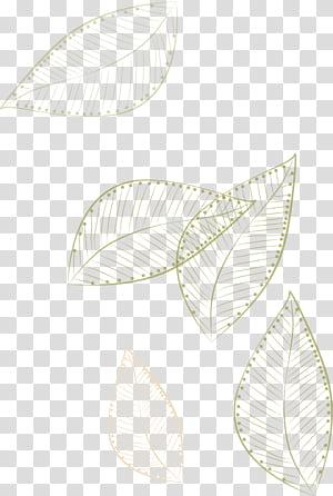 Paper White Pattern ,, ilustrasi daun melayang, ilustrasi daun emas dengan latar belakang biru png