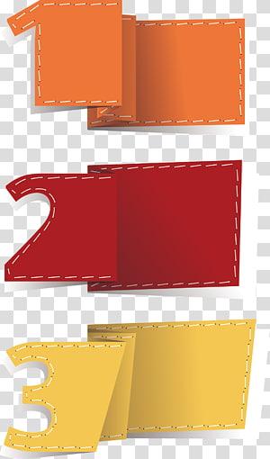 tiga kertas lipat numerik oranye, kuning, dan merah, kotak Teks Elemen Euclidean, Kotak Teks png
