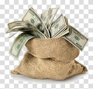sekantong dolar, kantong Uang, Dolar png