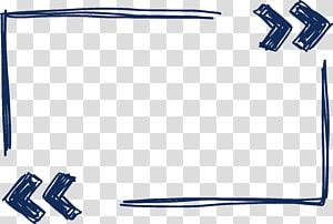 Euclidean Pixel, Tangan dicat perbatasan biru, ilustrasi panah hitam png