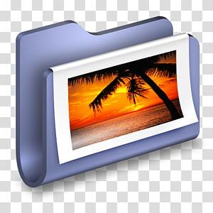 ilustrasi bingkai putih dan abu-abu, menampilkan panas multimedia perangkat, s Blue Folder png