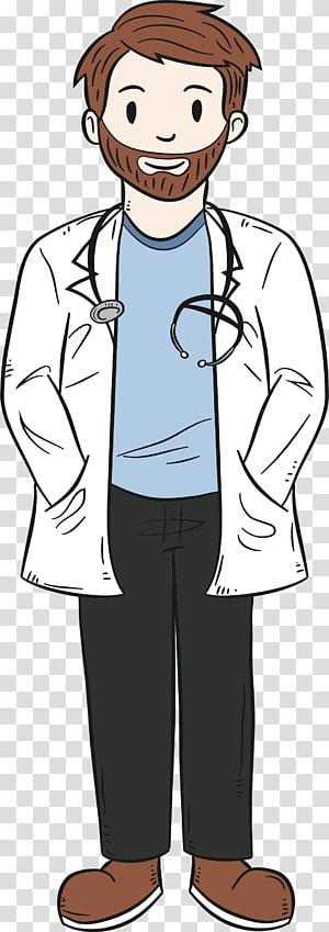 Illustration Dokter Bedah, Tangan dicat dokter asing png
