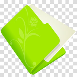 daun kuning hijau, Folder bunga hijau, ilustrasi ikon file hijau dan putih png