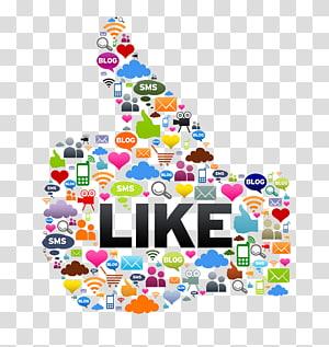 berwarna-warni seperti ilustrasi, tombol pemasaran media sosial, media sosial png
