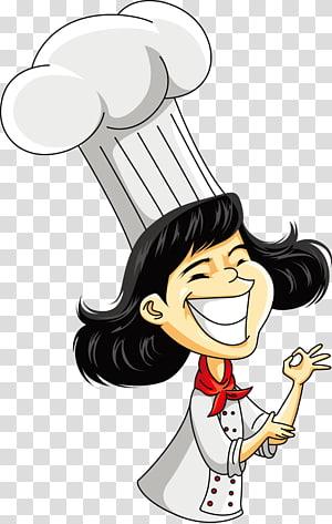 Ilustrasi Kartun Chef, Koki Perempuan, ilustrasi koki wanita PNG clipart
