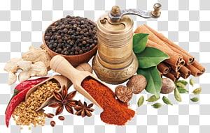 penggiling lada, biji pengintai, kayu manis, dan cabai, rum Bourbon wiski masakan Karibia Spice Bumbu, rempah-rempah png