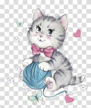 ilustrasi kucing abu-abu, Kucing Kucing Kucing, Kucing dengan wol png