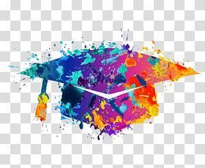 ilustrasi papan mortar warna-warni, keterampilan Belajar Siswa Tutor Universitas Pendidikan, topi Sarjana Kreatif png
