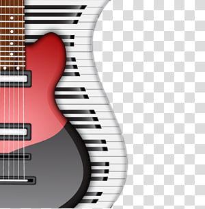 gitar listrik merah, alat musik piano, gitar listrik mode dan keyboard piano png
