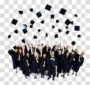 sekelompok orang dalam gaun akademik melemparkan papan mortir mereka, Panduan Utama tentang Cara Sukses di Sekolah Menengah: 30 Kiat Cepat Setiap Siswa dan Orangtua Siswa SMA Harus Tahu! png