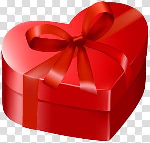 kotak hadiah merah berbentuk hati, Kotak Hadiah Valentine Jantung, Kotak Hadiah Merah Hati png