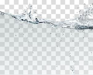 percikan air, setetes air file komputer, permukaan air png