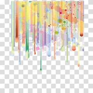 Lukisan cat air Ilustrasi, Gradien, Latar belakang pola dekoratif, poster, latar belakang spanduk, garis, merah, kuning, dan lukisan abstrak hijau png