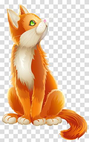 Kartun Kucing Gila Pemasaran Kucing, Kucing Oranye Kartun, ilustrasi kucing oranye png