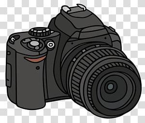 Kamera refleks lensa tunggal Menggambar, pukulan sederhana kamera SLR png