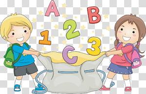 anak laki-laki dan perempuan memegang ilustrasi tas serut, Sekolah Anak, foya anak-anak PNG clipart