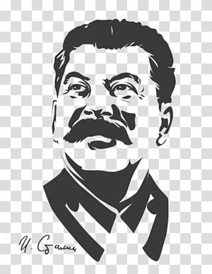 ilustrasi wajah pria, Perang Dingin Uni Soviet, Stalin png