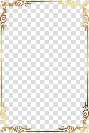 ilustrasi asrama emas, bingkai, kotak teks emas png