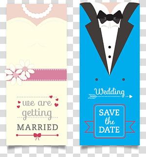dua ilustrasi kartu pernikahan, Undangan pernikahan Mempelai Pria, Undangan, Kartu undangan, Undangan pernikahan png