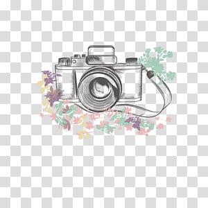 ilustrasi kamera hitam, Ilustrasi Kamera, kamera png
