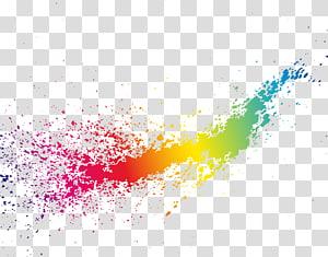 Ikon Warna, percikan warna Mimpi, cat warna-warni png